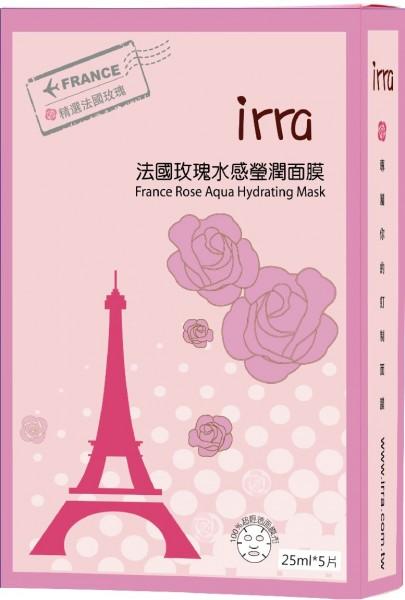 伊芮-法國玫瑰水感瑩潤面膜5片入